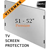 51 - 52 inch Vizomax TV Screen Protector for LCD, LED & Plasma HDTV ~ Vizomax