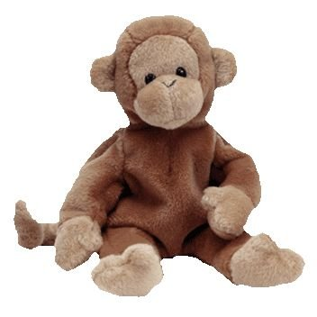TY Beanie Baby - BONGO the Monkey (Dark Brown Tail Version) - 1