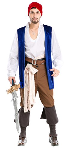Ace Halloween Adult Men's Deluxe Sexy Caribbean Pirates Costumes