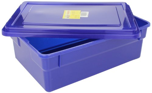 Childcraft Storage Box with Lid - 16 x 11 x 6 inches - Blue