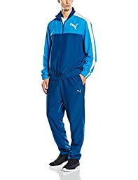 Puma Mens Tracksuit Woven Fun Graphic Training Jacket/Pant Blue S-XL New 83415011 (L)