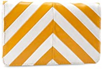 Latico Chevron 8524 Wallet,Metallic White/Gold,One Size