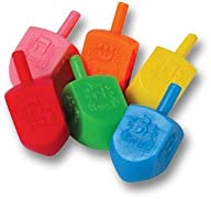 The Dreidel Game! Colored Plastic Dre…