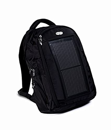 solar backpack bag Solastica 640 mA Solar charger Back Pack bag (Black)