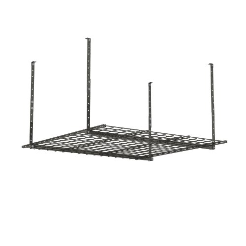 HyLoft 00625 45-Inch by 45-Inch Overhead Storage System, Hammertone (Garage Organizer Ceiling compare prices)