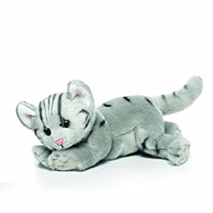 Nat and Jules Grey Tabby Cat Plush Toy, Large