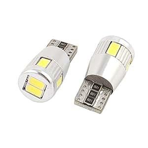2 Pcs T10 White 5630 6-SMD LED Canbus Dashboard Light 2652 Internal