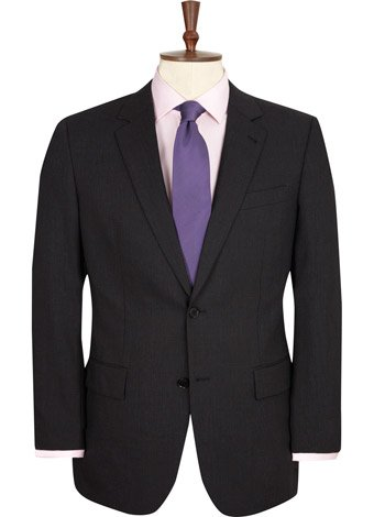 Austin Reed Regular Fit Charcoal High Twist Jacket LONG MENS 44