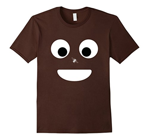 Mens-Poop-Emoji-Face-Funny-Halloween-T-Shirt-Fly-Unisex-Small-Brown
