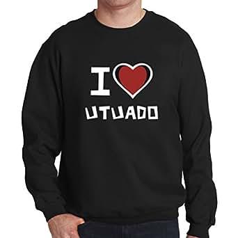 Amazon.com: I love Utuado Mens Sweatshirt: Clothing