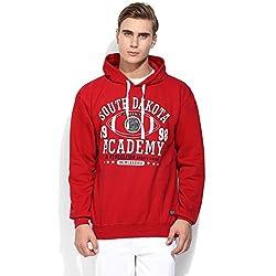 Mens Red Hooded Sweatshirts