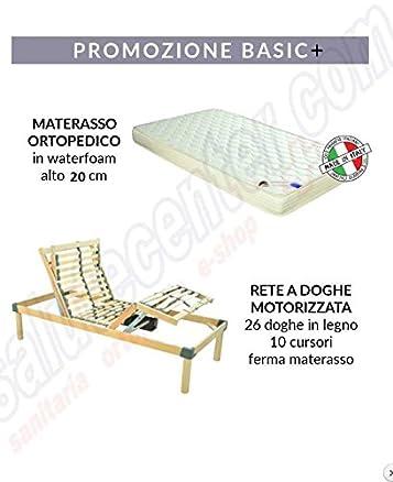 Rete elettrica Relax Go 500 + materasso ortopedico in poliuretano alto 20 cm