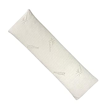 Snuggle-Pedic Shredded Bamboo Combination Memory Foam Body Pillow With Kool-Flow Cover