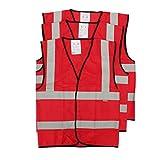 Size L, Traffic Security Vest Waistcoat Warning Reflective Stripes Vest by Meawmeaw Store