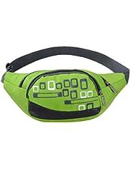 MaxMAxi Water Resistance Nylon Runners Belt Waist Pouch Waterproof Runners Waist Pack For Men And Women (Green)