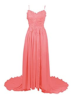 Spaghetti Strap Applique Lace Mother-of-the-Bride Dress/Prom Dress