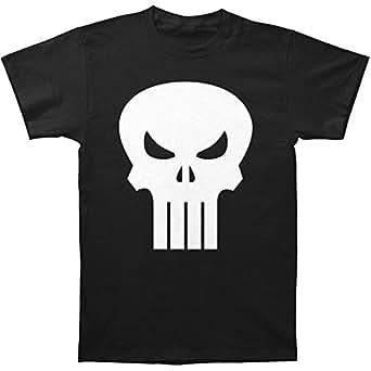 amazoncom the punisher movie skull logo black mens t
