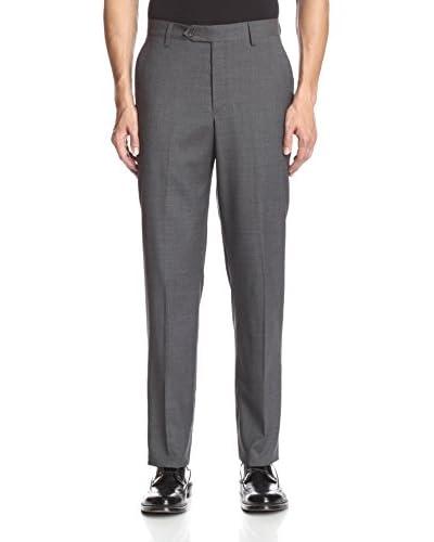 Berle Men's Solid Wool Tropical Flat Front Pant