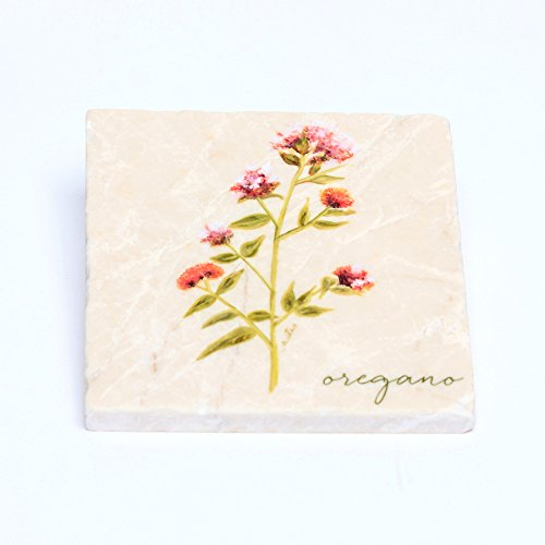 Decorative Art Tile - Oregano by Amy Estes Art (Marble)