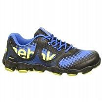 Reebok ATV19 Sonic Rush Running Shoe (Little Kid/Big Kid),Black/Vital Blue/Yellow,2 M US Little Kid