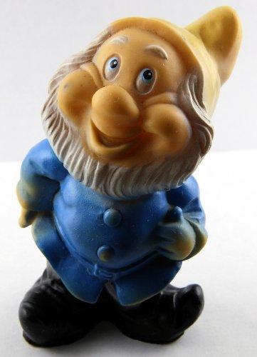 Vintage Walt Disney Productions Rubber Squeaky Toy Seven Dwarfs - Happy - 1