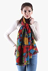 Owncraft printed wool stole with multi colors