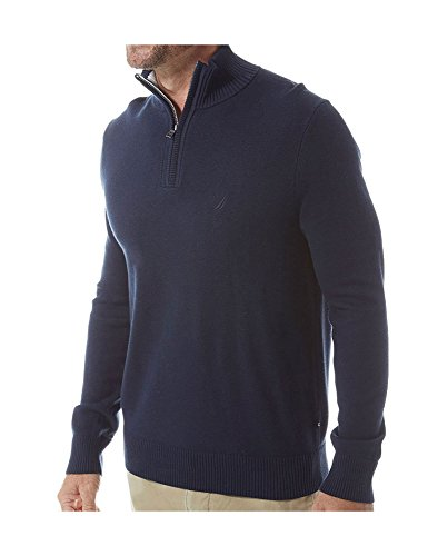 nautica-mens-mens-long-sleeve-knitted-blouse-in-size-xl-navy