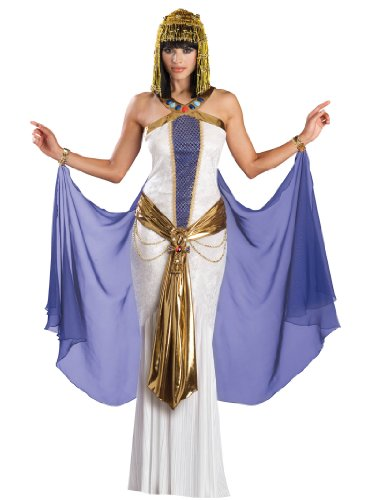 Sexy White Dress Cleopatra Costume Egyptian Goddess Womens Theatrical Costume