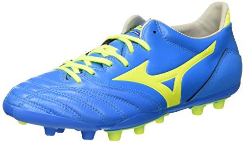Mizuno Morelia Neo Kl Ag Scarpe da Calcio Competizione, Uomo, Blu (Diva Blue/Safety Yellow), 44 1/2
