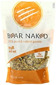 Bear Naked All Natural Granola, Fruit and Nut, 12-Ounce Pouches (Pack of 6) by Bear Naked [Foods]