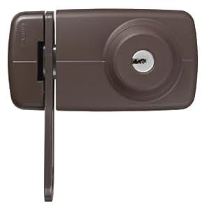 ABUS 533013 7035 B Tür-Zusatzschloss mit beidseitigem Zylinder und Sperrbügel, braun