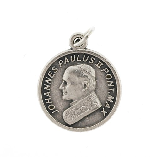 Small Crucifix - Medal - Pope John Paul ii - 3/4in. Height - IMPORTED FROM ITALY