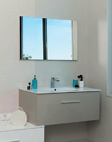 Aqua +–Set mobile bagno di alto Tortora da appendere 90cm Consegnato MONTATO–Terry