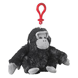Wildlife Artists Gorilla Plush Black Gorilla Stuffed Animal Backpack Clip Toy Keychain WildLife Hanger