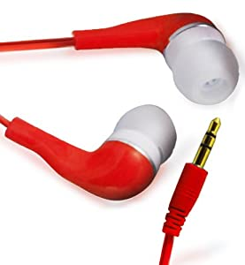 RED HIGH QUALITY 3.5MM EARBUD EARPHONES FOR SAMSUNG GALAXY ACE S5830