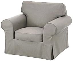 The Light Gray Ikea Ektorp Chair Cover Replacement is Custom Made For Ektorp Armchair Cover, A One Seat Sofa Slipcover Replacement