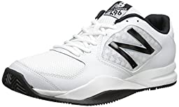 New Balance Men\'s MC696 Light Weight Tennis Shoe, White/Black, 9.5 D US