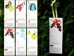 Plantable Holiday Gift Tags -Set of 6