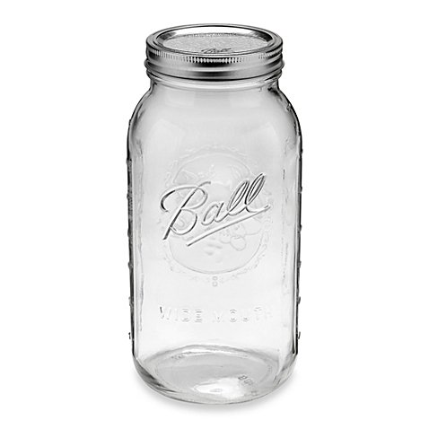 Wide Mouth 6-pack 0.5-gallon Glass Canning Jars (Freezer Jam Kit compare prices)