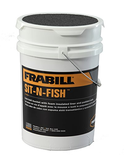 Frabill sit n fish bucket 1600 082271116000 for Ice fishing bucket