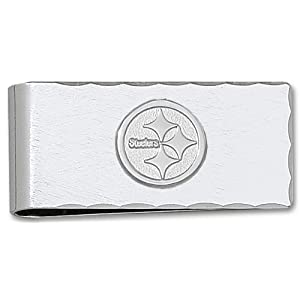 NFL Pittsburgh Steelers Plated Money Clip with Sterling Silver Logo