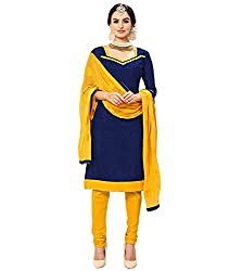 Krishna Present All New Design Of Blue Color Cotton Dress Material With Dupatta..