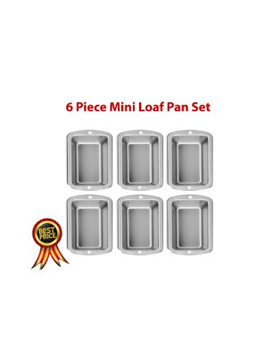 Wilton Recipe Right 6 Piece Mini Loaf Pan Set (Wilton Recipe Right 3 Piece compare prices)
