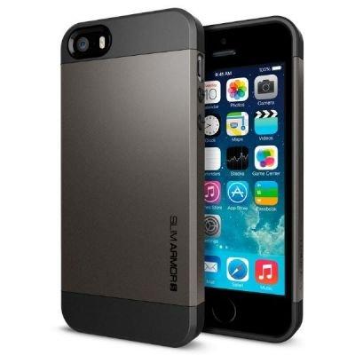国内正規品SPIGEN SGP iPhone5/5S ケース スリムアーマーS [ガンメタル] SGP10475