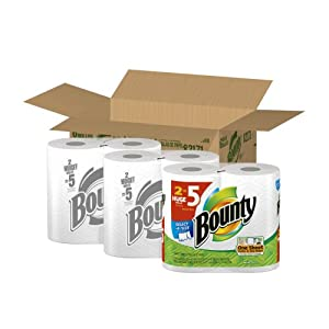 Bounty Paper Towels 6 Select A Size Huge Rolls (Packaging May Vary)