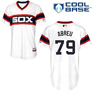 Jose Abreu Chicago White Sox Alternate Retro Authentic Cool Base Jersey by Majestic by Majestic