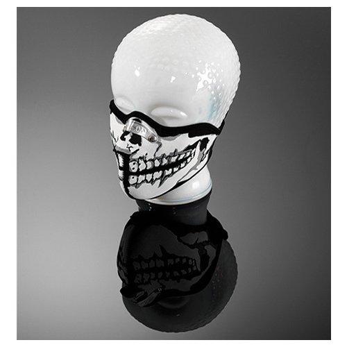 Copricollo Half Face Mask Skull Man