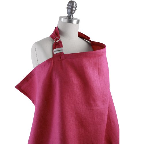 Simple by Bebe Au Lait Organic Nursing Cover, Raspberry (Discontinued by Manufacturer) - 1