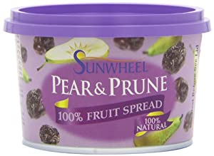 Sunwheel Pear and Prune Spread 300 g (Pack of 6)
