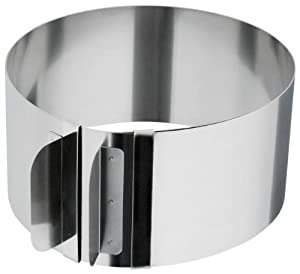 "Adjustable Cake Setting Ring - Make Cakes From 6"" to 12"""